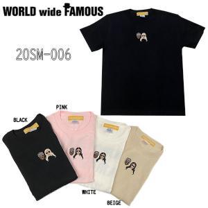 ワールドワイドフェイマス WORLD WIDE FAMOUS 2020夏 20sm-006 〇〇風 Tシャツ メンズ レディース トップス 半袖 シャツ  4カラー【正規品】|54tide