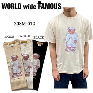 ワールドワイドフェイマス WORLD WIDE FAMOUS 2020夏 BEAR風 Tシャツ メンズ レディース トップス 半袖 シャツ S・M・L・XL【正規品】|54tide