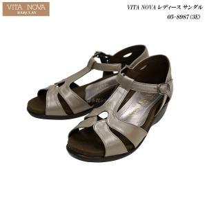 VITA NOVA/ヴィタノーヴァ/レディース/サンダル/05-8987/3E/ライトオークメタ/ 55fujiya