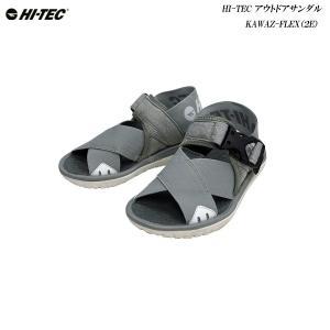 HI-TEC/メンズ/レディース/アウトドアサンダル/KAWAZ FLEX/グレイ/2E/ハイテック/ムーンスター/|55fujiya