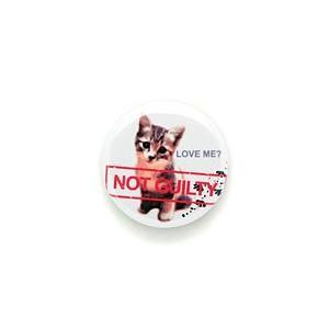 猫 缶バッチ NOT GUILTY ネコ ねこ 猫柄 雑貨 - メール便 - SCOPY スコーピー