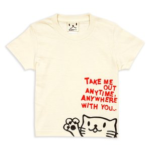 キッズ Tシャツ 半袖 猫 Griper - ナチュラル ネ...