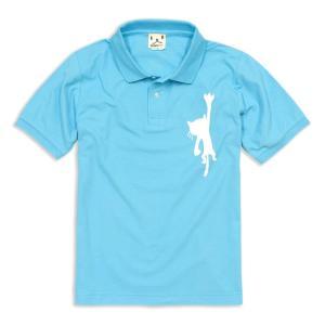 ポロシャツ メンズ レディース 半袖 猫 HANGING C...