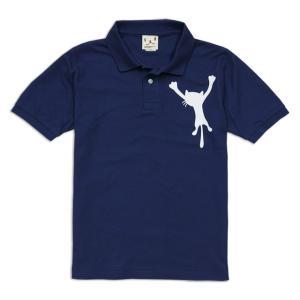 ポロシャツ メンズ レディース 半袖 猫 DANGLING ...