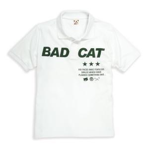 ポロシャツ メンズ レディース 半袖 猫 BAD CAT -...