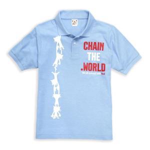 ポロシャツ メンズ レディース 半袖 猫 CHAIN ネコ ...