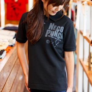 ポロシャツ メンズ レディース 半袖 猫 NECO PUNC...