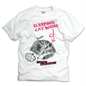 Tシャツ メンズ レディース 半袖 猫 SLEEPING CAT ネコ ねこ 猫柄 雑貨 SCOPY...