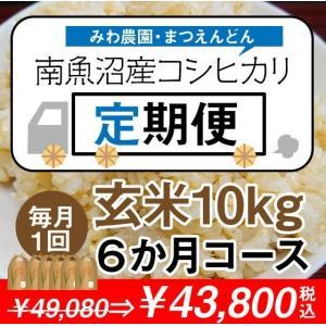 【定期便】玄米10kg(5kg×2袋)×6回(6カ月コース)南魚沼産コシヒカリ|5602miwa