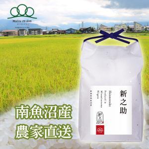 【令和3年度米】精米5kg 南魚沼産新之助 大粒で綺麗なツヤがあり、豊潤な甘みとコク※10月中旬から順次発送|5602miwa