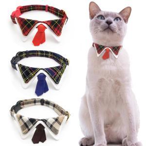 ちょこタイ猫首輪は男の子用にネクタイのついた猫首輪です。 男の子だっておしゃれを楽しみたい猫ちゃんに...