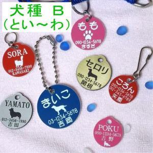 犬の迷子札・丸イラスト・犬B (メール便なら→)【送料無料】|5endama