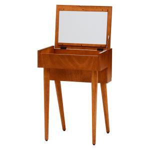 ドレッサー 鏡台 ミラー メイクボックス メイクテーブル シンプル 木製 コスメ収納 カルマシリーズ...