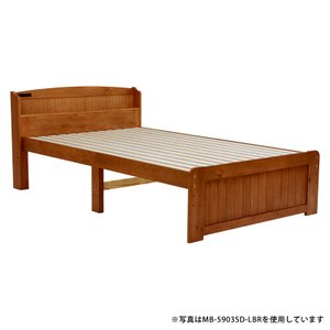 ショートベッド セミシングルベッド 小さいベッド すのこ 高さ調節 棚 おしゃれ 北欧 コンセント かわいい カントリー(ライトブラウン)MB-5905SSS-LBR 5stella
