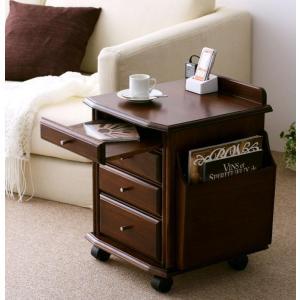 サイドテーブル ナイトテーブル ベッドサイドテーブル テーブル 40 完成品 ソファ横 キャスター コンセント 引出し おしゃれ シンプル 和室 天然木 木製 W40|5stella
