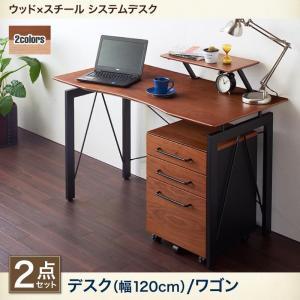デスク ワゴン  2点セット オフィス パソコン コンパクト スリム PC 作業 オフィス リモートワーク 在宅 机 一人暮らし|5stella
