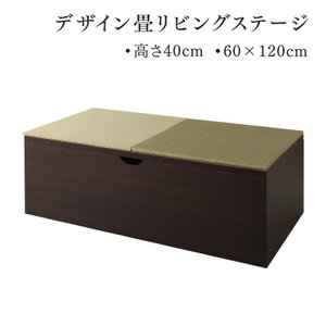 小上がり 収納畳 収納付き畳 畳ボックス収納 ユニット畳  置き畳 システム畳 国産  大容量収納付き 一畳 日本製 そよ風 60×120cm ハイタイプ 単品 5stella