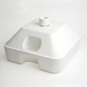 角型タンク式ポールスタンド  のぼりスタンド  のぼり台  台座  重し  ウエイト|6111185