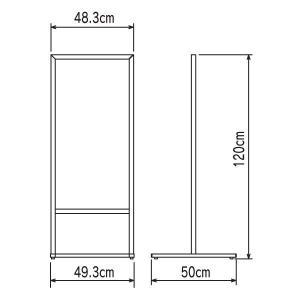 垂直型スタンド看板(S)  立て看板  店舗用看板  両面看板  置き看板|6111185|02