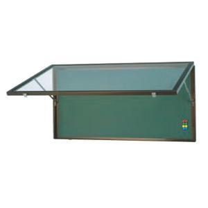 壁面用アルミ掲示板ブロンズ(特大)  黒板仕様  マグネット使用可  送料無料|6111185