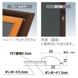 背板取り外し式額縁/B2サイズ  パネル  額縁  ポスターパネル  ポスターフレーム  ポスター入れ 6111185 04