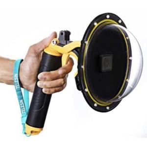 ドームポート カメラ 防水 海 海水浴 夏休み GoPro HERO5 HERO6 HERO7 Black White Silver camera スキューバ  ダイビング サーフィン スノボ|69rock