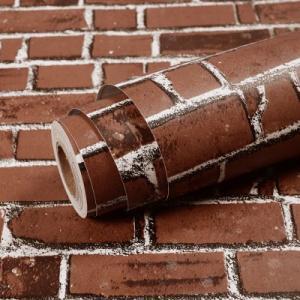 激安 大容量 10m 壁紙 ウォールステッカー タイル レンガ リメイク DIY ステッカー シール 茶レンガ 改築 改装 リノベ リノベーション|69rock