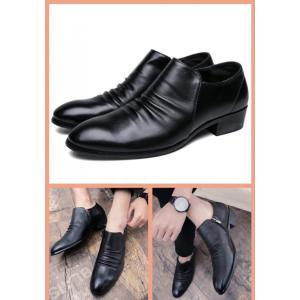 ビジネスシューズ 革靴 シューズ 靴 ドレスシューズ ファスナー くつ クツ|69rock