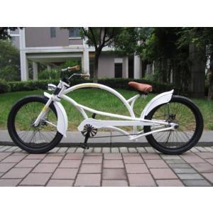 ビーチクルーザー 自転車 チャリ ホワイト 白|69rock