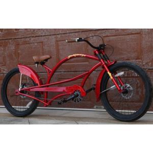 ビーチクルーザー 自転車 チャリ 赤 レッド|69rock
