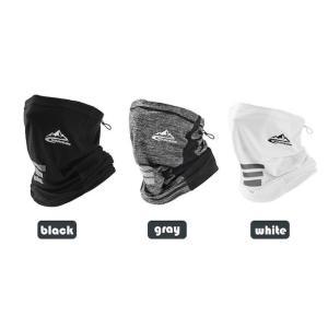 冷んやり 首まで マスク 夏用 フェイスマスク 黒 白 灰色 ブラック ホワイト グレー 冷感マスク 冷感 冷たい ガード UVカット 防虫 |69rock