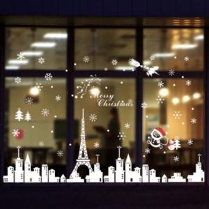 SALE 激安 ウォールステッカー クリスマス サンタ トナカイ 雪 サンタクロース ステッカー シール 12月 メリークリスマス クリスマスイブ ポイント ポイント消化|69rock
