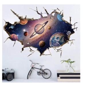 ウォールステッカー 宇宙 コスモ ステッカー シール 惑星 星 ポイント消化|69rock
