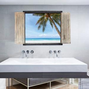 ウォールステッカー 海 南国 ヤシの木 ハワイ バリ島 モルディブ 砂浜 海岸 ステッカー シール|69rock