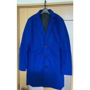 ロングコート チェスターコート アウター コート 上着 トレンチコート 青 ブルー|69rock