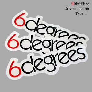 6DEGREES オリジナルステッカー TYPE-1|6degrees