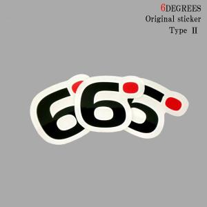 6DEGREES オリジナルステッカー TYPE-2|6degrees