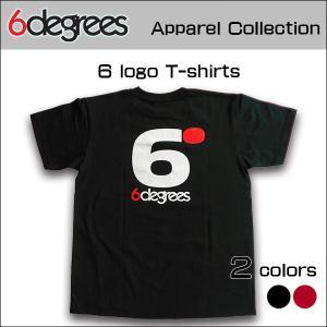 6DEGREES ORIGINAL 6-LOGO T-Shirts(オリジナルTシャツ)BLACK ブラック/ T-シャツ/バックプリント/アメ車/アメリカン|6degrees