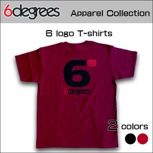 6DEGREES ORIGINAL 6-LOGO T-Shirts(オリジナルTシャツ)BURGUNDY バーガンディー/ T-シャツ/バックプリント/アメ車/アメリカン|6degrees
