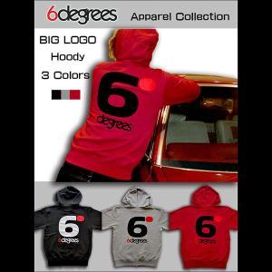 6DEGREES ORIGINAL BIG LOGO HOODY(オリジナルパーカー)BURGUNDY バーガンディー/ ジップパーカー/バックプリント/アメ車/アメリカン|6degrees