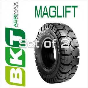 6.50-10MAGLIFT / BKT Tire・MAGLIFT(ノーパンク)フォークリフト用タイヤ 2本セット|6degrees