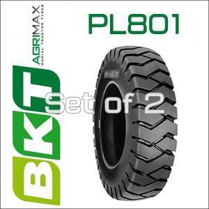 5.00-8 / BKT Tire・PL801フォークリフト用タイヤ 2本セット|6degrees