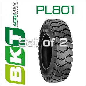 6.50-10 / BKT Tire・PL801フォークリフト用タイヤ 2本セット|6degrees