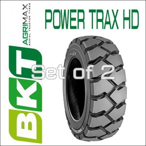5.00-8 / BKT Tire・POWER TRAX HD フォークリフト用タイヤ 2本セット|6degrees