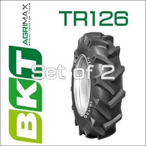 6-14 / BKT Tire・TR126 トラクター用バイアスタイヤ・2本セット|6degrees