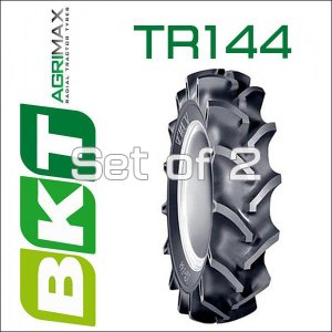 9.5-16 / BKT Tire・TR144 トラクター用バイアスタイヤ・2本セット|6degrees