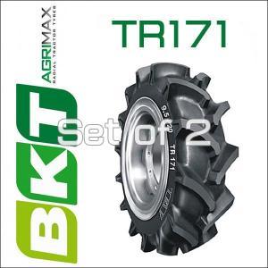 9.5-22 / BKT Tire・TR171 トラクター用ハイラグタイヤ・2本セット|6degrees