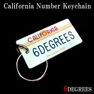6DEGREESオリジナル カリフォルニアナンバーキーチェーン(6DEGREES)/アメ車/シボレー/アクセサリー/キーホルダー|6degrees