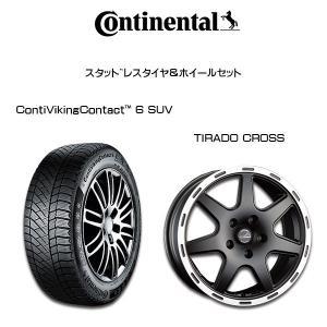 『コンチネンタルスタッドレスタイヤ・ホイール4本セット』ContiVikingContact 6 SUV 215/65R16 TIRADO CROSS 16×6.5J 5H/110 +40 JEEP レネゲード BU系 6degrees