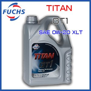 FUCHS フックス エンジンオイル TITAN GT1 SAE 0W-20 XTL 4L|6degrees